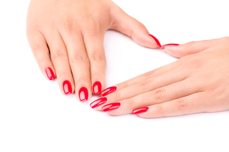 manicured: Manicured nails Stock Photo