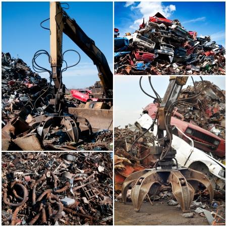 Scrap yard collage