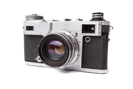 old camera: Old camera isolated