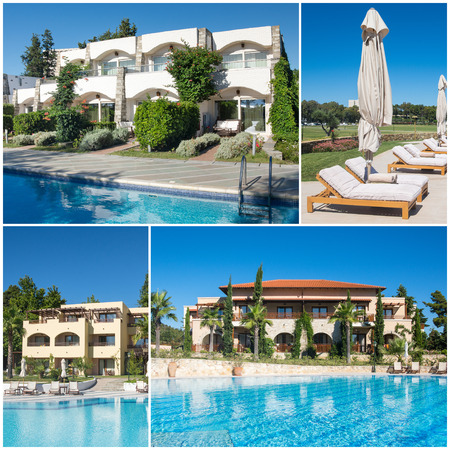 Collage  of luxury touristic hotel