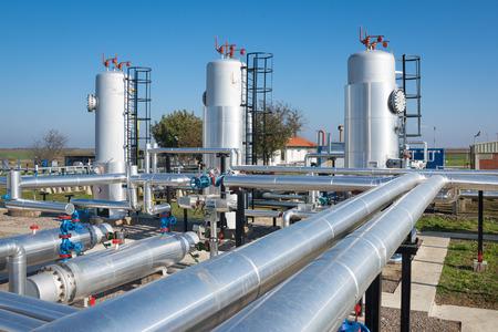 aceites: aceite y planta de procesamiento de gas Foto de archivo