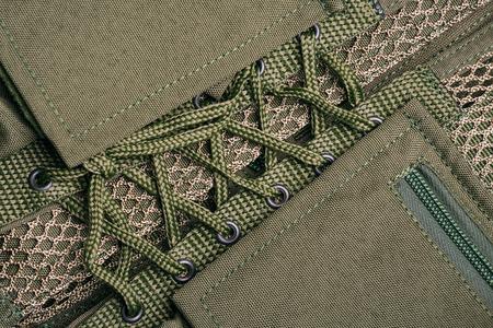military uniform: Closeup of military uniform