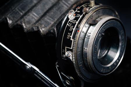 camera lens: A retro camera lens close-up