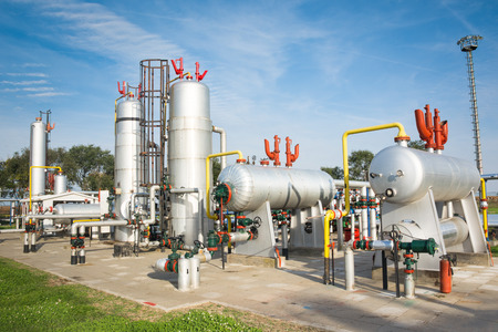 processing: Oil and gas refinery Stock Photo