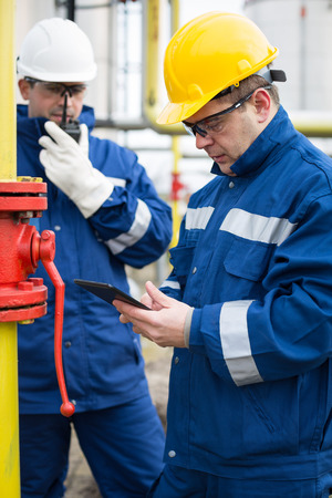 Gas Production Operator Stock Photo, Picture And Royalty Free Image ...