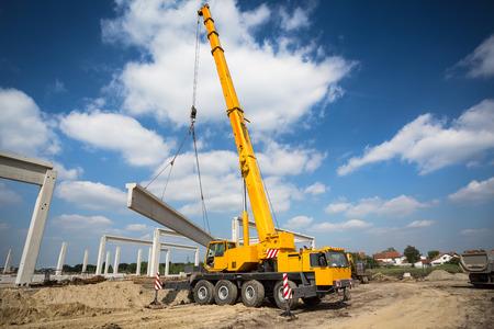 Mobile crane Banque d'images