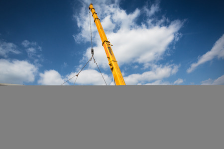 crane: Mobile crane Stock Photo