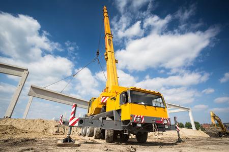 Mobile crane 스톡 콘텐츠