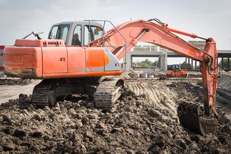 back hoe: excavator in action