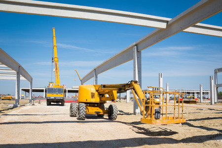 Mobile crane 免版税图像