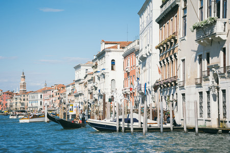 merchant: Beautiful facade of typical merchant house on Grand canal Venice