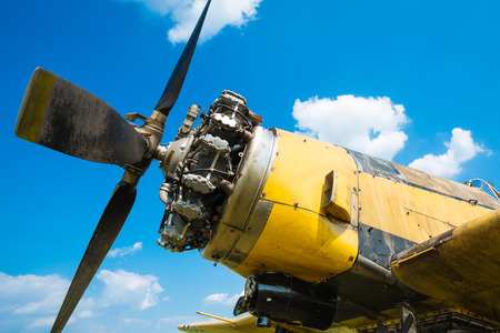 aircraft engine: Old aircraft engine