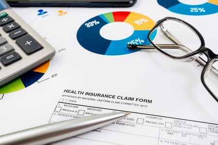 medical care: Health-insurance claim form