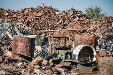 scrap metal: Scrap metal ready for recycling