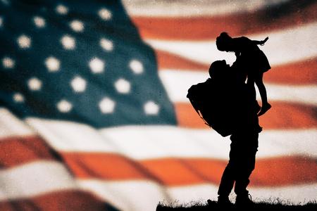 美国士兵轮廓