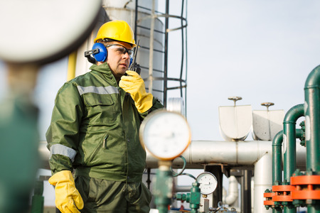 Ingénieur dans le domaine du pétrole et du gaz naturel Banque d'images - 51835291