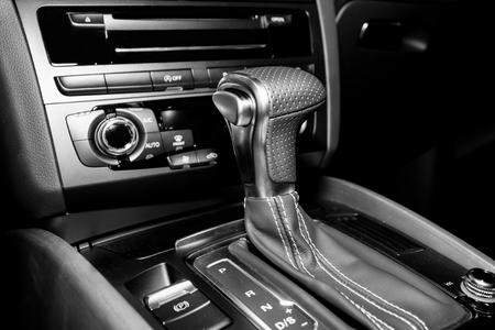 gearshift: Automatic gearshift in sport car