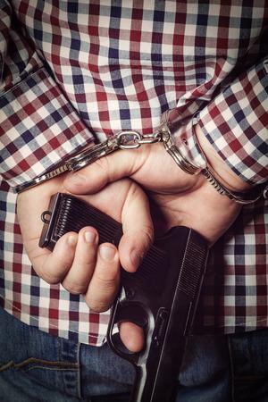 Criminal hands locked