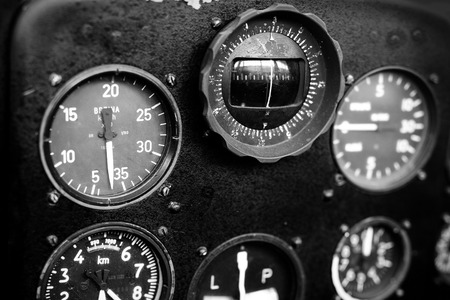 cockpit: Airplane cockpit Stock Photo