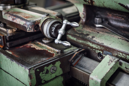 machines: Industrial machines in a old factory