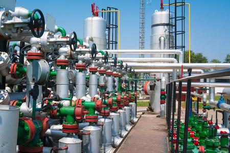 valve: Valve and pipeline Stock Photo