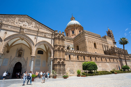 palermo: Cathedral of Palermo on the blue sky Editorial