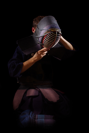 fortitude: Kendo Men on the black background