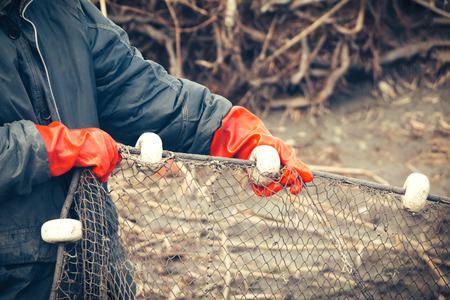 trawl: Fishermen at Work Stock Photo