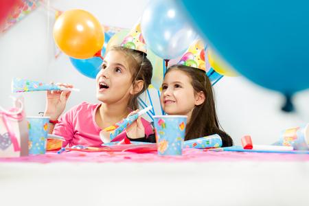 Children happy birthday party photo