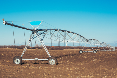 Irrigation system on wheels