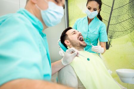 Dentist at work