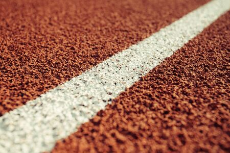 Detail of a running track in a stadium