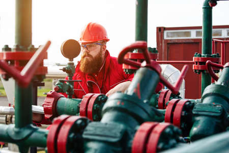 Oil and Gas Industry Worker. Engineer in refinery plant.