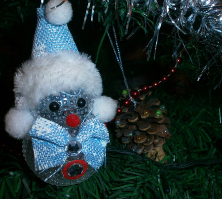 Christmas tree. Decorates on Christmas tree for the New Year. Stock fotó