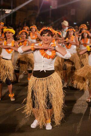 Pancevo - Serbia 06.17.2017. Happy woman on carnival parade Editorial