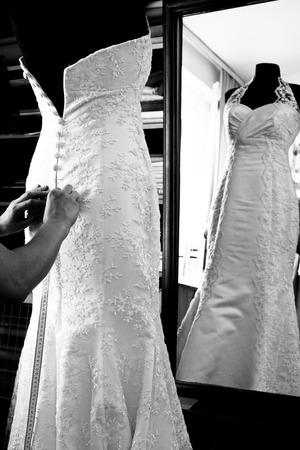 working dress: Wedding dress