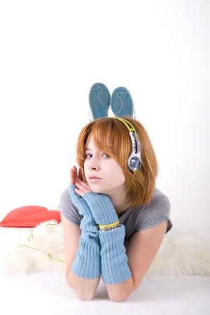 Music girl  photo