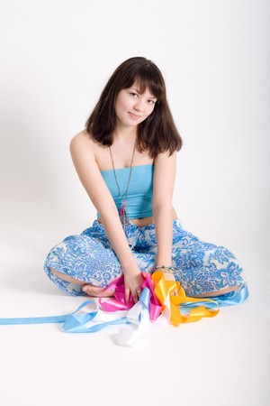 Hippie with ribbons Stock Photo - 6951696