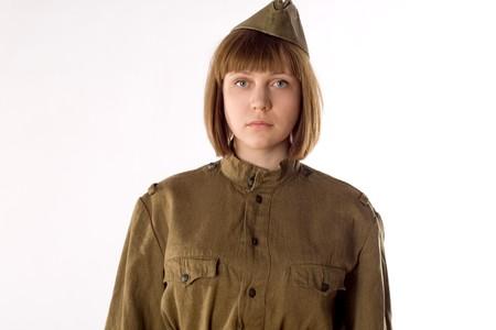 Studio portrait of a soldier Stock Photo - 7089334