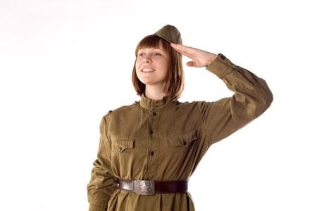 Studio portrait of a soldier  photo