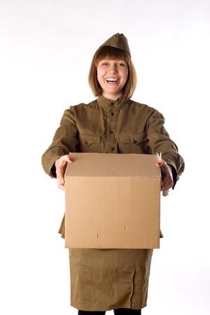 Studio portrait of a soldier  Stock Photo