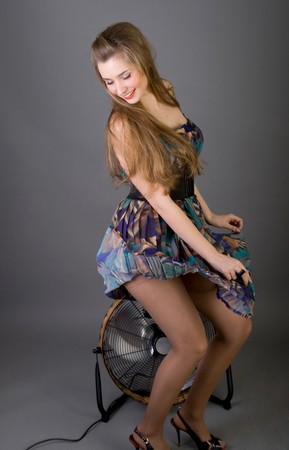 Pretty pinup girl photo