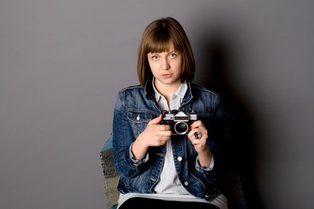 Girl with a camera Stock Photo - 7180674