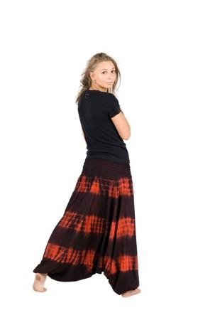 Girl in ethnic clothes studio shot Stock Photo - 8091679
