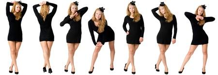 Girl in black dress  photo