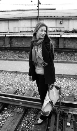 Traveling girl photo