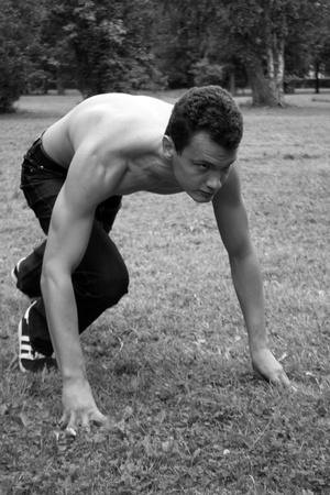 bowing: Running man