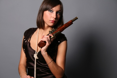 musket: Girl with a musket