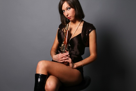Girl with a musket photo
