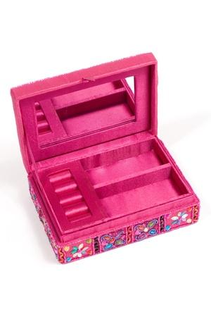 Ethnic box isolated on white background photo